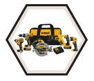 5 Tool Combo Kit - 20V Li-Ion / DCK594P2 *MAX XR