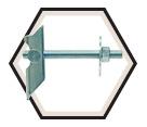 "Tip Toggle - 3/8-16 x 4"" - Zinc Plated Steel / UTT"