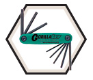Hex Key Set - Fold Up - Torx End - Torx - 8 pc / 12634 *GORILLAGRIP