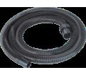 """Vacuum Hose - 1-1/2"""" x 12' - Black / 906-25"""
