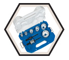 8 Piece Plumber's Carbide Tipped Hole Saw Kit