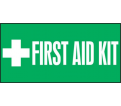 "First Aid Kit Label - 3""x7"" - Dura Vinyl / LFSD508XVE"