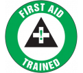 "First Aid Trained Decal - 2-1/4"" - Adhesive Vinyl / LHTL312 (10 PK)"