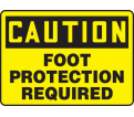 "Caution Foot Protection Required - 10"" x 14"" - Plastic / MPPE688VP"