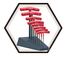 Hex Key Set - T-Handle - Hex End - Metric - 8 pc / 13389 *STAND