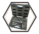 "Chrome Socket Set - 3/8"" - 6 Point / 600241 *45 Pc"