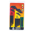 Hex Key Set - L-Wrench/Fold Up - Ball/Torx End - SAE/Metric/Torx - 30 pc / 14132