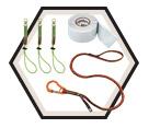 Tool Tethering Kit - 10 lbs - Orange & Yellow / 3182 *SQUIDS®