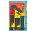 Hex Key Set - L-Wrench/Fold Up - Ball/Torx End - Metric/Torx - 17 pc / 14138