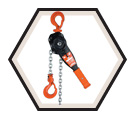5' Lift - Super Heavy Duty Mini-Mite II Lever Chain Hoist - 1-1/2 tons