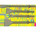 Hammer Bit - .401 Shank - Narrow Face Flat Chisel / 408201