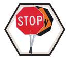 "Traffic Paddle - Stop/Slow - 12"" Handle / 456"