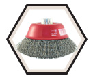 "5"" - Cup Brush - 0.020"" Crimped Wire"