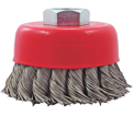 "3"" - Cup Brush - 0.020"" Knot-Twisted Wire *High Performance"