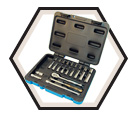 "24 Piece Socket Wrench Set - 6 Point - 1/4"" Drive / 600115"