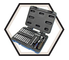 "42 Piece Socket Wrench Set - 6 Point - 1/4"" Drive / 600125"