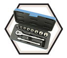 "11 Piece Socket Wrench Set - 6 Point - 3/8"" Drive / 600223"