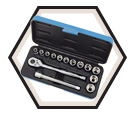 "Chrome Socket Set - 3/8"" - 6 Point / 600226 *15 Pc"
