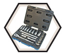 "Chrome Socket Set - 3/8"" - 6 Point / 600229 *21 Pc"