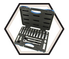 "30 Piece Socket Wrench Set - 6 Point - 3/8"" Drive / 600234"