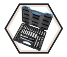 "45 Piece Socket Wrench Set - 12 Point - 3/8"" Drive / 600242"