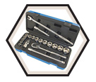 "Chrome Socket Set - 1/2"" - 6 Point / 600323 *20 Pc"