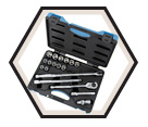 "Chrome Socket Set - 1/2"" - 6 Point / 600326 *19 Pc"