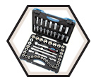 "Chrome Socket Set - 1/2"" - 6 Point / 600341 *55 Pc"