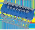 "Chrome Socket Set - 3/4"" - 12 Point / 600402 *21 Pc"