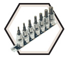 "7 Piece Hex Bit Socket Set - 3/8"" Drive - 2"" Long Hex / 601201"