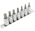 """Chrome Socket Set - 3/8"""" - Hex / 601202 *7 Pc"""