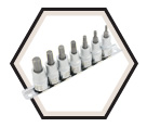 "7 Piece Hex Bit Socket Set - 3/8"" Drive - 2"" Long Hex/ 601202"