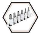 6 Piece Tamperproof TORX® Bit Socket Set / 601216