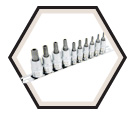 "10 Piece Tamperproof TORX® Bit Socket Set - 1/4"" & 3/8"" Drive / 601801"