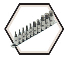 "10 Piece Hex Bit Socket Set - 3/8"" & 1/2"" Drive / 601802"