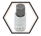 "Hex Bit Socket - 2"" Long - 1/2"" Drive - Metric / 6773"