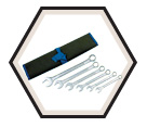 6 Piece Raised Panel Combo Wrench Set / 700110