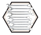 10 Piece Jumbo Raised Panel Combo Wrench Set / 700128