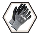 Palm Coated Gloves - Cut Level 4 - Synthetic / Ninja X4