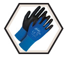 Palm Coated Gloves - Cut Level 1 - Nylon / Ninja Lite