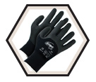 Palm Coated Gloves - Cut Level 2 - Synthetic / Ninja Ice