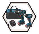 2 Tool Combo Kit - 18 V Li-Ion / CLPK232-181