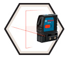 Laser Level - Cross-Line - Red - AAA Battery / GLL2-40