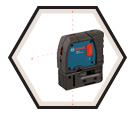Laser Level - 3-Point - Red - AA Battery / GPL3
