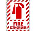 "Fire Extinguisher Sign - 10"" x 7"" - Plastic / MFXG419VP"