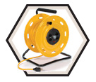 Extension Cord Reel - Yellow - 25 m / 4531 *HEAVY DUTY