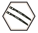 "Jig Saw Blade #4 - 2-3/8"" - 9 TPI / High Speed Steel (5 Pack)"