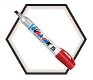 DURA-INK® 25 Ink Metal Marker - Red - King Size