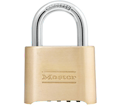 "Wide Resettable Combination Padlock - 1"" x 2"" - Brass / Model #175"