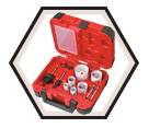 10 Piece Electrician's Hole Dozer™ Hole Saw Kit